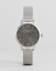 Olivia Burton OB16MD80 Midi Dial Mesh Watch In Silver - Silver