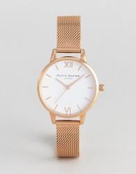 Olivia Burton OB16MDW01 Hackney Mesh Watch In Rose Gold - Gold