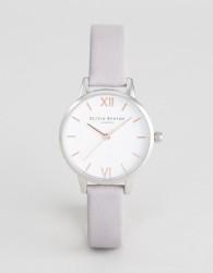Olivia Burton OB16MDW26 Midi Dial Leather Watch In Grey Lilac - Grey