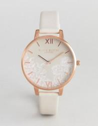 Olivia Burton OB16MV80 Lace Detail Watch - Beige