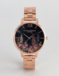 Olivia Burton OB16WG45 Dark Bouquet Bracelet Watch In Rose Gold - Gold