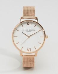 Olivia Burton Rose Gold Big Dial Mesh Watch - Gold