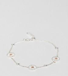 Olivia Burton Silver and Gold Plated Daisy & Ball Chain Bracelet - Multi