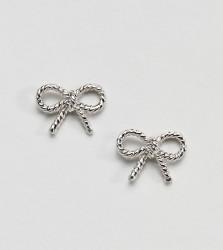 Olivia Burton Sterling Silver Vintage Bow Earrings - Silver