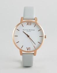Olivia Burton Vegan Big Dial Grey and Rose Gold Watch - White