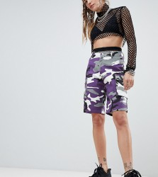 One Above Another board shorts in camo - Purple