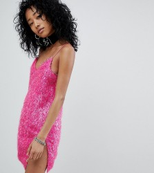 One Above Another Cami Dress In Sparkle Fabric - Pink