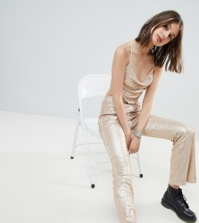 One Above Another flares in sequin co-ord - Gold