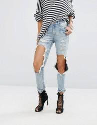 One Teaspoon Highwaisted Freebird Jeans with Exposed Knees - Blue