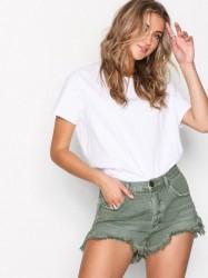 One Teaspoon Le Wlves Mid L Short Shorts Khaki