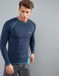 O'Neill Active Slim Fit Long Sleeve T-Shirt in Blue - Blue