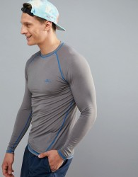 O'Neill Active Slim Fit Long Sleeve T-Shirt in Grey - Grey