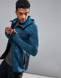 O'Neill Activewear Easy Full Zip Hoodie Hyperdry in Blue Print - Blue