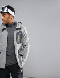 O'Neill Activewear Kinetic Borg Fleece Jacket Hooded in Grey - Grey
