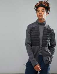 O'Neill Activewear Kinetic Quilted Sweat Jacket in Black/Grey - Black