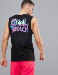 O'Neill Beach Vest with Back Print - Black