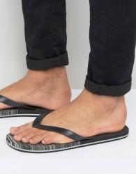 O'Neill Profile Marble Flip Flops - Black