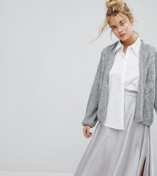 OneOn Hand Knitted Cable Cardigan - Grey