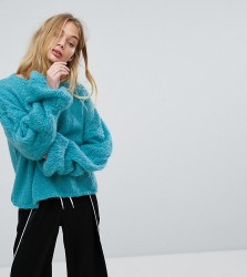 OneOn Hand Knitted Cable Sleeve Jumper - Blue