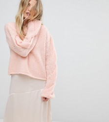 OneOn Hand Knitted Cable Sleeve Jumper - Pink