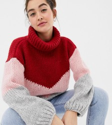 OneOn hand knitted colourblock jumper - Multi