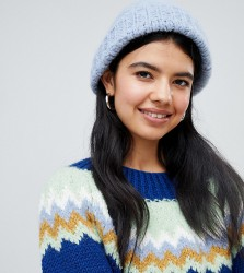 OneOn hand knitted fluffy dreams hat - Blue