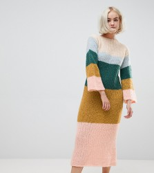 OneOn hand knitted fluffy dreams jumper dress - Multi
