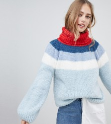 OneOn hand knitted fluffy dreams ombre jumper - Multi