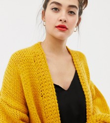 OneOn hand knitted oversized cardigan - Yellow
