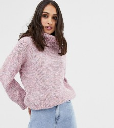OneOn hand knitted oversized rainbow jumper - Pink
