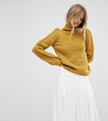 OneOn Hand Knitted Ruffle Jumper - Yellow