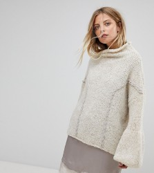 OneOn Hand Knitted Soft Cable Jumper - Cream