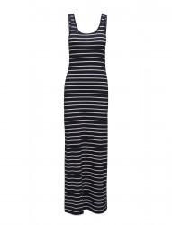 Onlabbie Stripe Sl Long Oneck Dress Noos