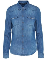 ONLY Anne L/S Denim Shirt (Denim, 34)