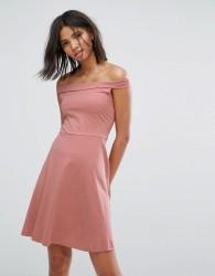 Only Bardot Skater Dress - Pink