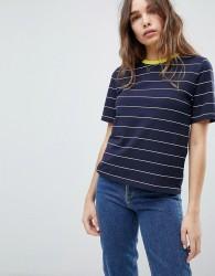 Only Contrast Collar Stripe Tee - Multi