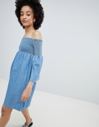 Only Denim Smock Dress - Blue