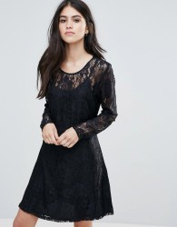 Only Evania Lace Evening Dress - Navy