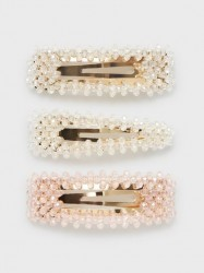 Only Onlane Stone 3 Pack Hairclip Håraccessories