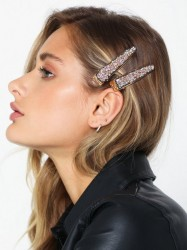 Only Onlcrocodile 2 Pack Hairclip Håraccessories Lys Rosa