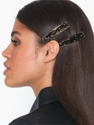 Only Onlcrocodile 2 Pack Hairclip Håraccessories Sort