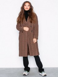 Only onlHOUSE Check Wool Coat Otw Frakker Lys Rosa