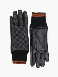 Only Onlsage Stepped Leather Gloves Vanter & handsker