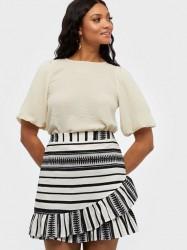 Only Onlsally Athena Wrap Skirt Wvn Mini nederdele