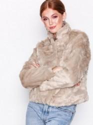 Only onlVIVA Fur Jacket Cc Otw Faux Fur Lys Grå