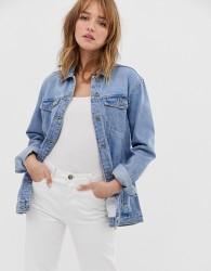 Only oversized denim jacket - Blue