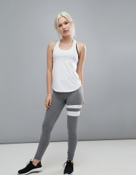 Only Play Training Leggings with Contrast - Grey