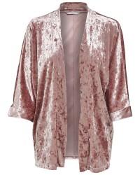 ONLY Punti velour 3/4 kimono (LYSEGRÅ, M)