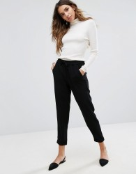 Only Relaxed Tailored Trousers - Black