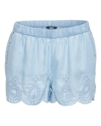 ONLY Rinna dnm emb shorts (Denim, S)